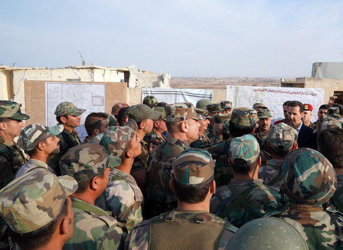 حضور بشار اسد در چند کیلومتری تروریستها + عکس