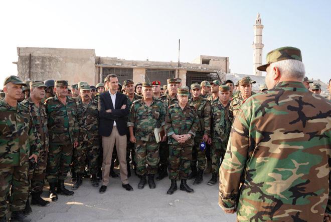 حضور بشار اسد در چند کیلومتری تروریستها+ عکس