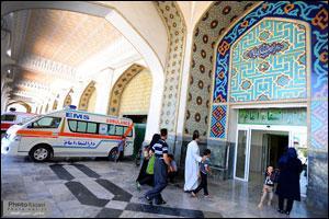 ارائه خدمات پزشکی دارالشفای امام رضا (ع) به زائران پیاده