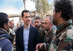 باشگاه خبرنگاران - حضور خطرناک بشار اسد در خط مقدم نبرد ارتش سوریه + فیلم