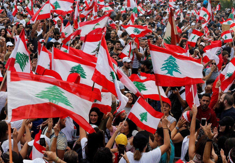 تظاهرات مردمی در شهر صیدا لبنان