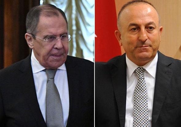 نشست مطبوعاتی لاوروف و چاووش اوغلو درباره سوریه