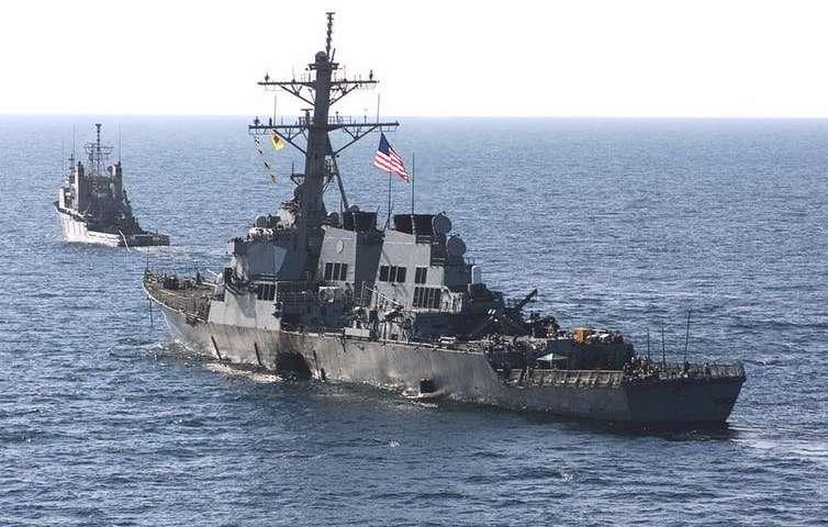 ورود ناو آمریکایی یواساس پورتر به بندر باتومی گرجستان