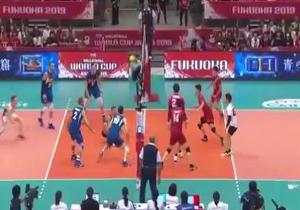 خلاصه والیبال ژاپن و ایتالیا در ۹ مهر ۹۸ + فیلم
