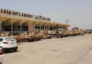 ورود تجهیزات نظامی عربستان به فرودگاه عدن در یمن
