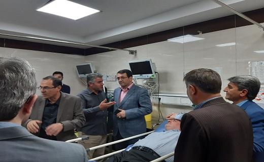 مصدوم شدن ۱۴ نفر بر اثر فروریختن بالکن یک واحد صنعتی در آبیک