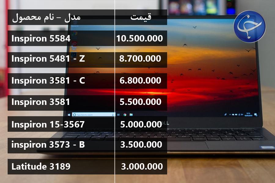 آخرین قیمت انواع لپتاپ در بازار (تاریخ ۲ آبان) +جدول