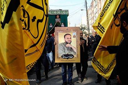 مراسم تشییع شهید مدافع حرم حامد سلطانی