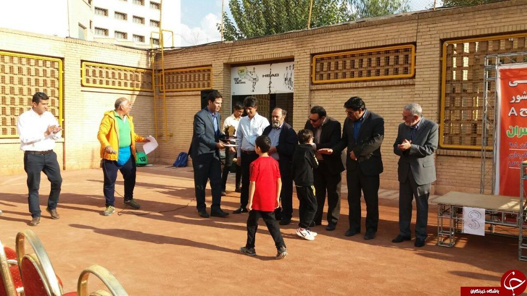 پایان مسابقات تنیس ردههای سنی کشور در کرمان