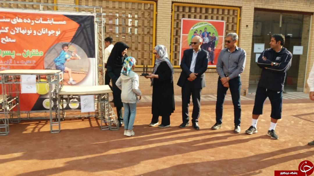 پایان مسابقات تنیس ردههای سنی کشور در کرمان + تصاویر