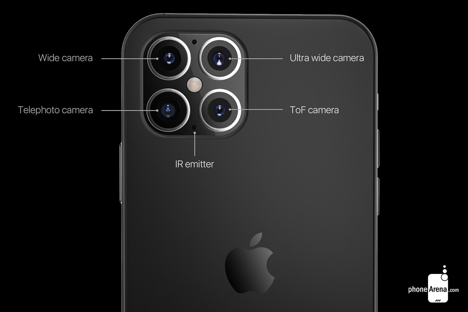 رندرهای منتشر شده از ظاهر احتمالی آیفون ۱۲ با طراحی متفاوت + تصاویر