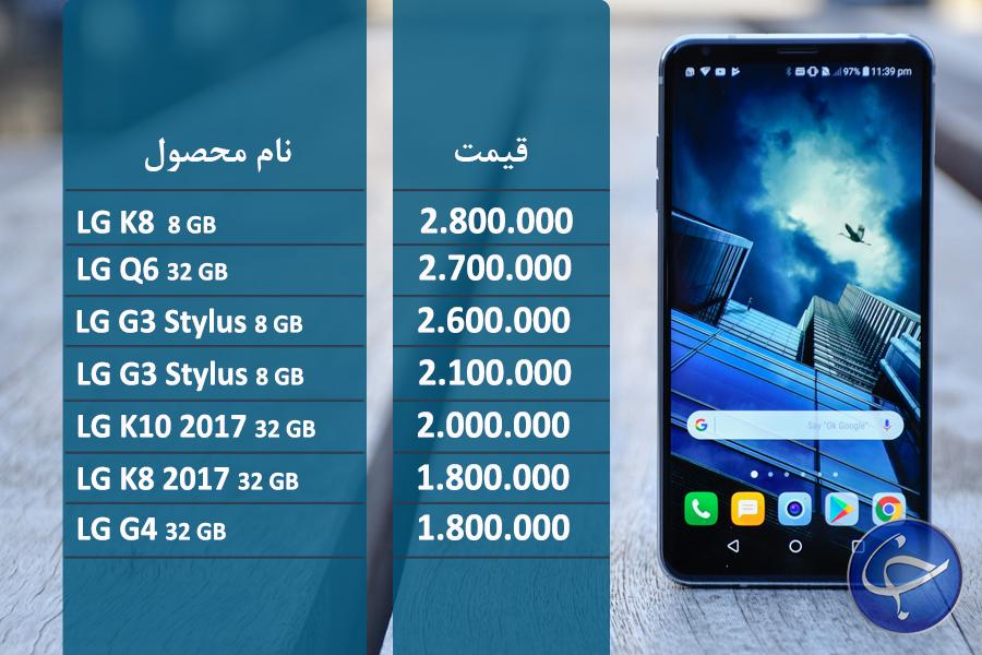 آخرین قیمت تلفن همراه در بازار (بروزرسانی 12 آبان) + جدول