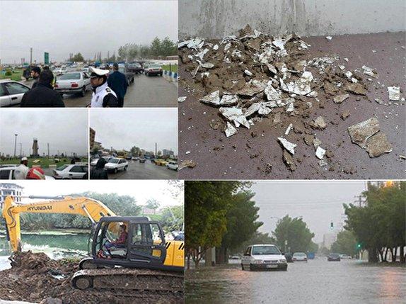 محور گرگان - آق قلا مسدود شد/تعطیلی مدارس شیفت صبح نوکنده/طغیان رودخانهها در بالادست و سیلابی شدن آنها+ فیلم و تصاویر