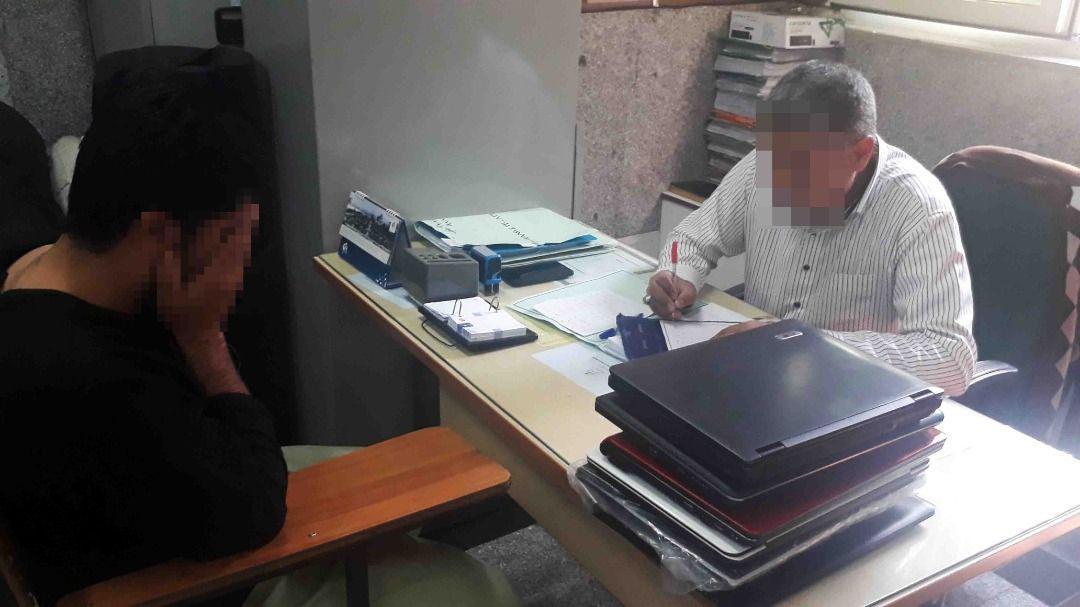 سارق لپ تاپهای دانشجویان دانشگاه علامه دستگیر شد