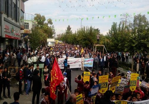 راهپیمایی سیزده آبان به روایت تصویر