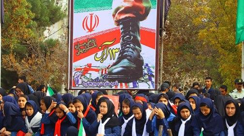راهپیمایی ۱۳ آبان در بجنورد برگزار شد