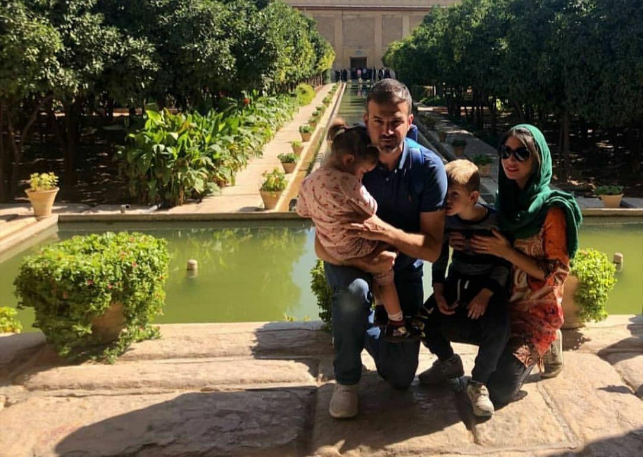 استراماچونی و همسرش در شیراز + عکس