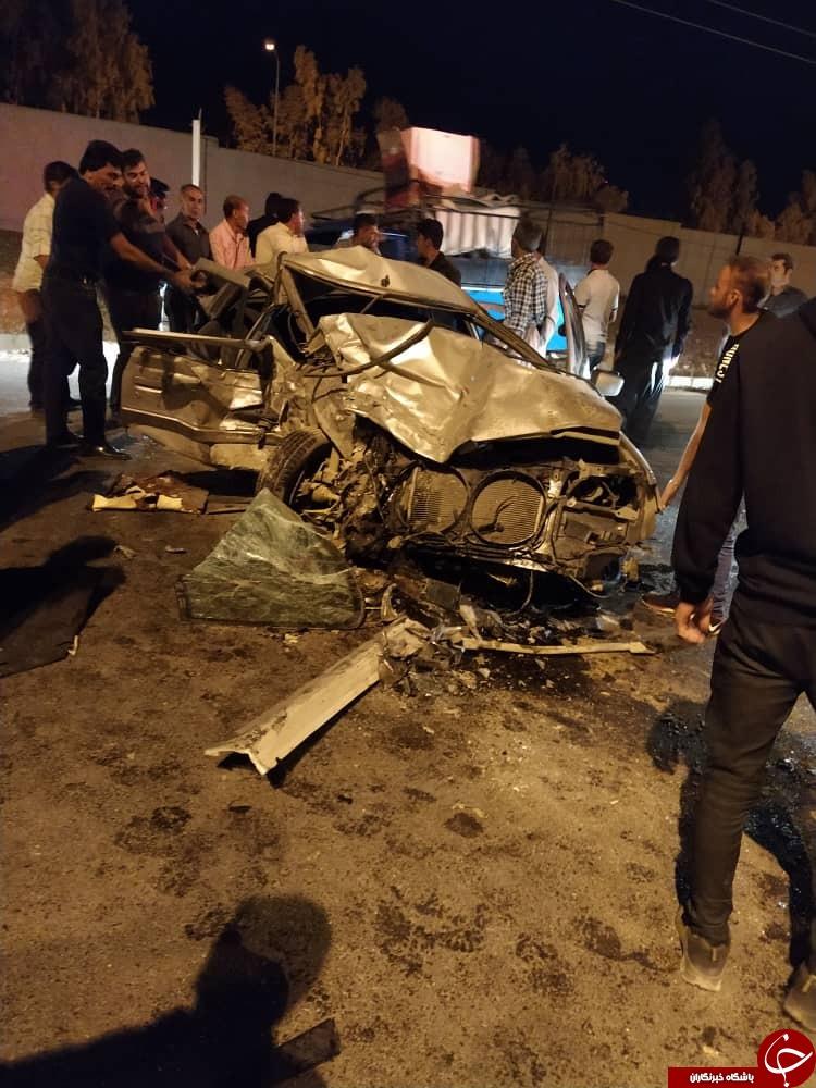 ۶ کشته و مصدوم در تصادف بلوار خلیج فارس جهرم