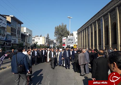 استقبال بی نظیر مردم ساری از نماینده جدید ولی فقیه در مازندران
