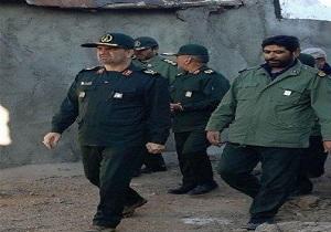 حضور فرمانده سپاه عاشورا در مناطق زلزلهزده میانه