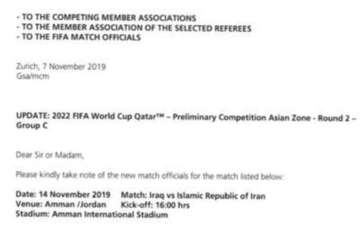 خبر خوش تاج برای مردم ایران/ داور دیدار تیم ملی با عراق تغییر کرد