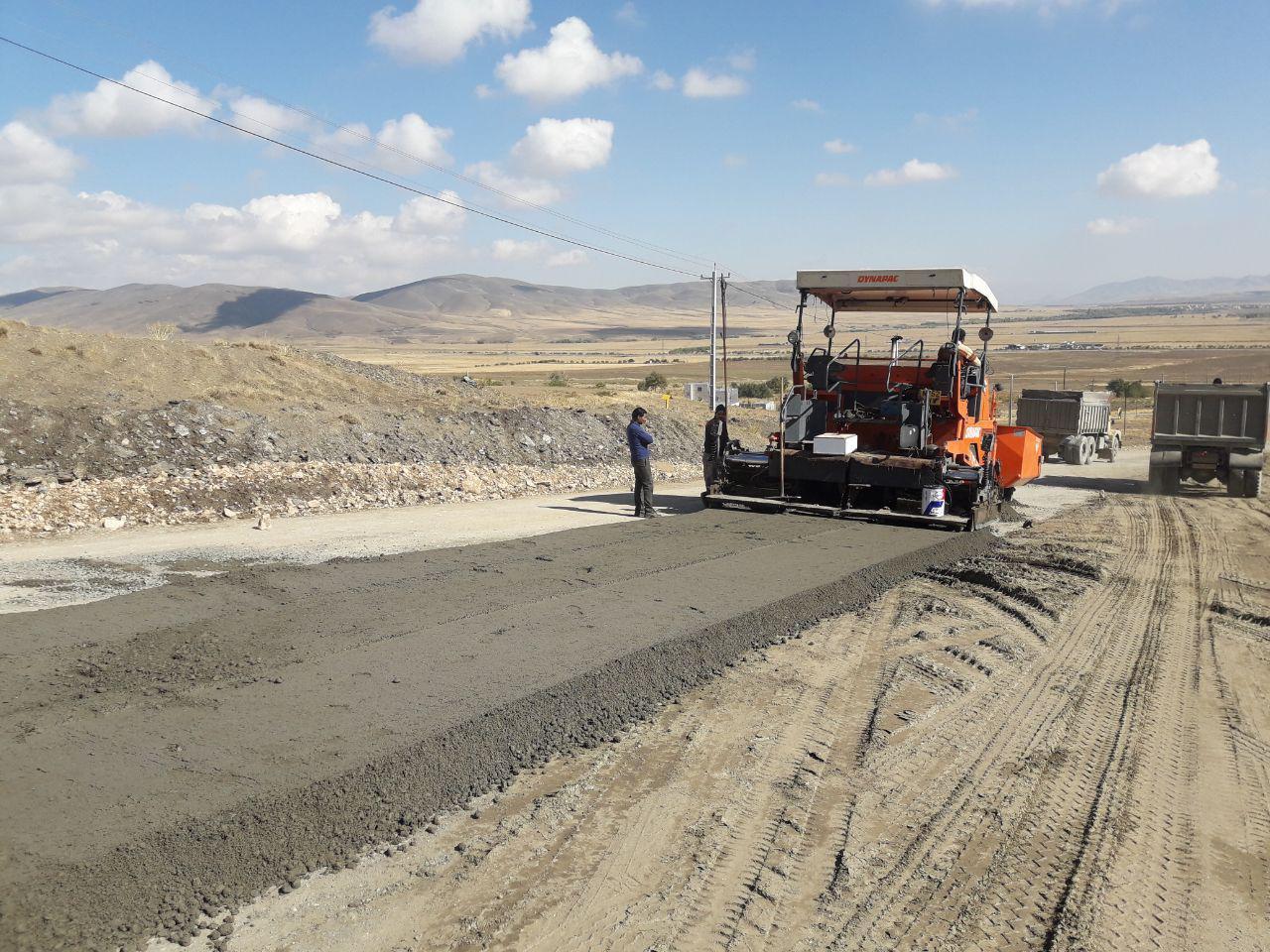 احیاء راه روستایی با استفاده از روکش بتن غلطکی برای نخستین بار در استان