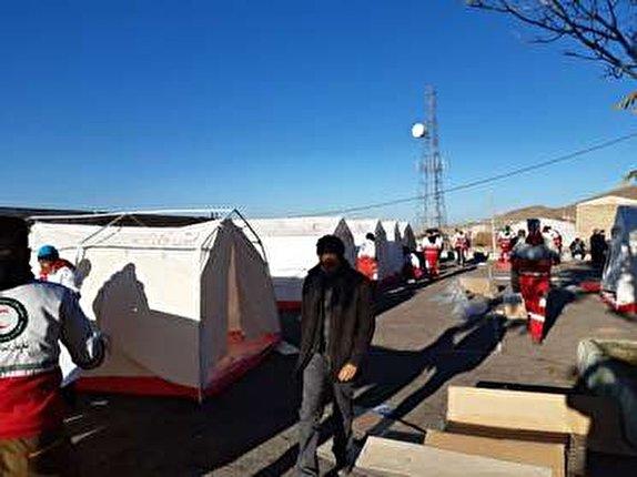 باشگاه خبرنگاران -اسکان اضطراری ۳۱۰۰ نفر از زلزلهزدگان