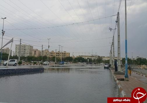آبگرفتگی معابر و خیابان های بندرعباس +تصاویر