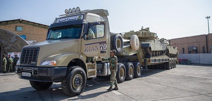 خودروی تانکبر «کیان۷۰۰» رونمایی شد