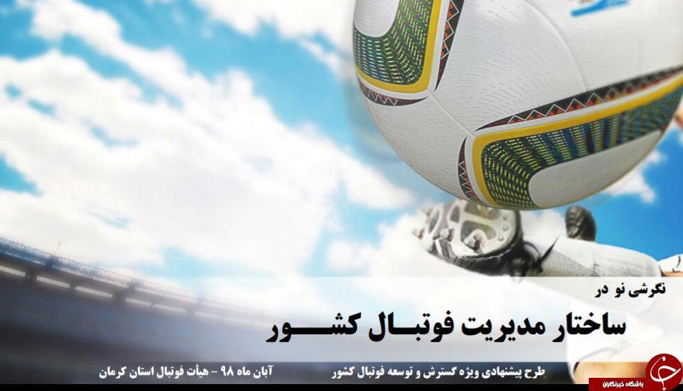 طرحی نو از رئیس هیئت کرمان برای مدیریت آینده فوتبال کشور