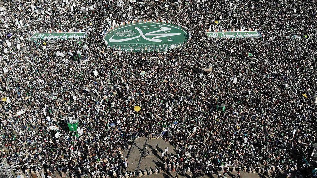 جشن میلیونی یمنیها در آستانه میلاد پیامبر (ص) + تصاویر