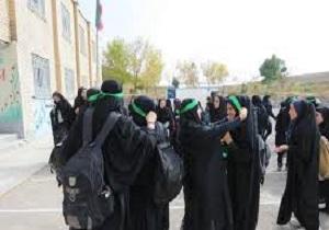 اعزام دانش آموزان خواهر بسیجی جلفا به راهیان نور شمالغرب کشور