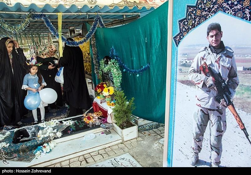 جشن تولد جوانترین شهید مدافع حرم ایرانی+تصاویر
