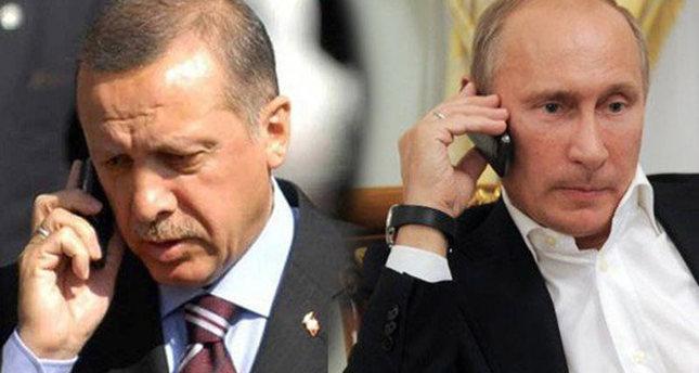 رایزنی تلفنی پوتین و اردوغان درباره تحولات سوریه