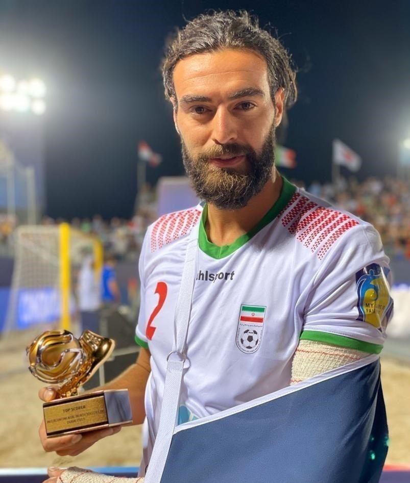 بازیکن مصدوم ایران، آقای گل جام بین قارهای فوتبال ساحلی شد