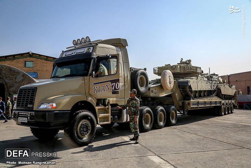 خودروسازی نیروهای مسلح هم با تانکبر الگو شد/ نزاجا با «کیان ۷۰۰» از ارتش آمریکا سبقت گرفت +عکس