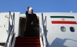رئیس جمهور وارد یزد شد + تصاویر