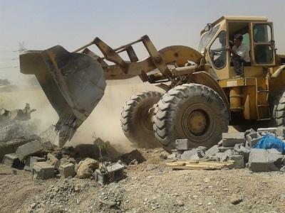 تخریب ساخت و سازهای غیر مجاز در ممسنی