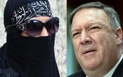 ناز کردن وزیر ارجه آمریکا برای نجات دستپرودهاش از مخمصه/ زن داعشی: پشیمانم مرا برگردانید/ پمپئو: او از ما نیست!