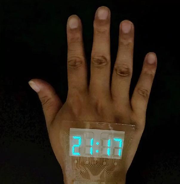 نمایشگر هوشمندی که مانند خالکوبی روی پوست است+تصویر