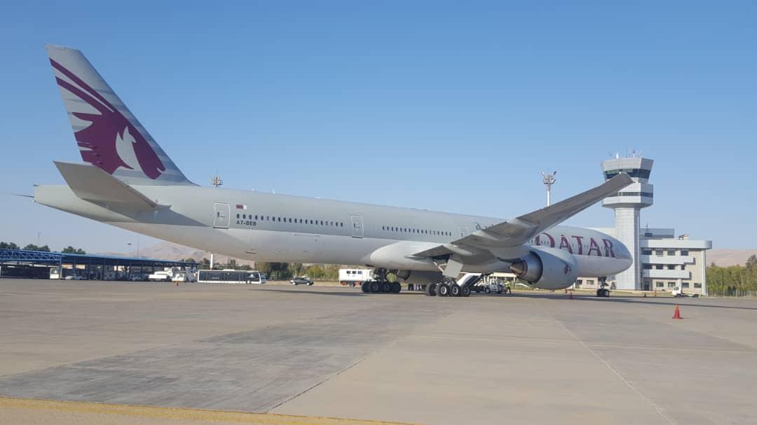 فرود اضطراری دو فروند هواپیمای قطرایرویز در فرودگاه بین المللی شیراز