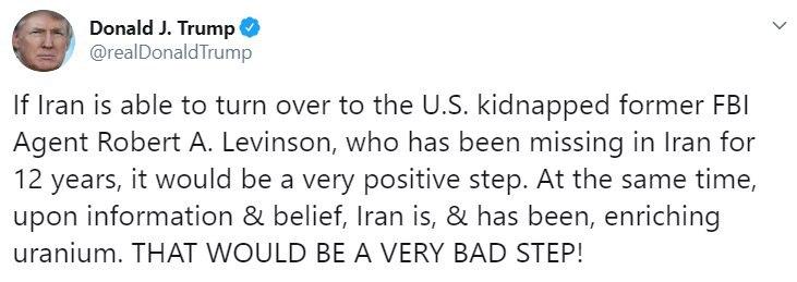 ترامپ: ایران از گذشته در حال غنی سازی اورانیوم بوده و هست!