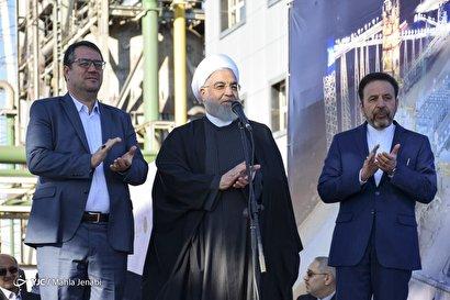 افتتاح کارخانه فولاد بافت کرمان توسط رییس جمهور