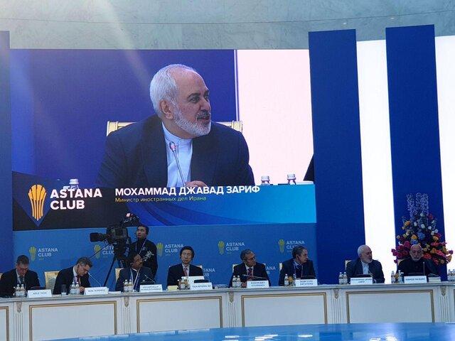 آغاز سخنرانی ظریف در افتتاحیه کلوپ آستانه