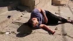 لحظه دلخراش به شهادت رسیدن جوان فلسطینی به دست نظامیان صهیونیست + فیلم