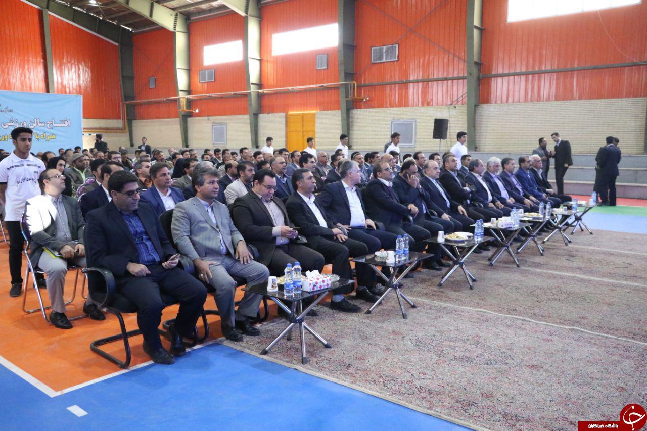 افتتاح ۱۳ طرح ورزشی با حضور رئیس جمهور و وزیر ورزش در کرمان+ تصاویر
