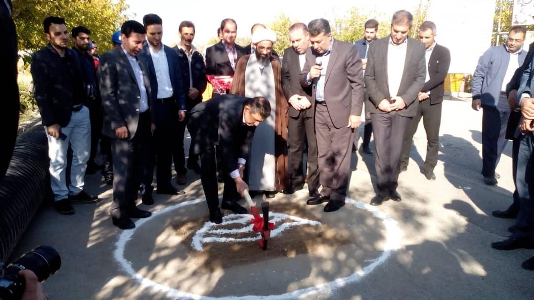 کلنگ زنی طرح انتقال تاسیسات فاضلاب چهار باغ