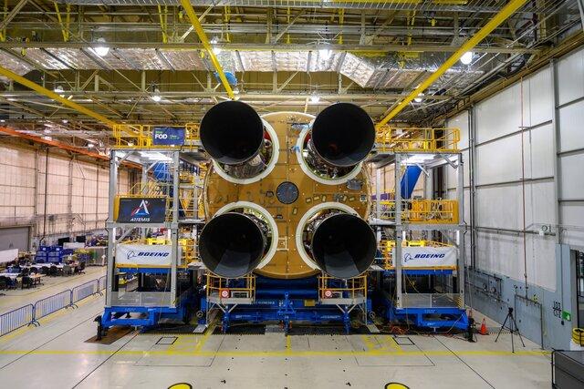 موتورهای هسته موشک غولپیکر ناسا نصب شد