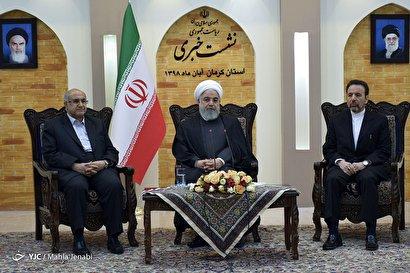 نشست خبری رئیس جمهور در کرمان