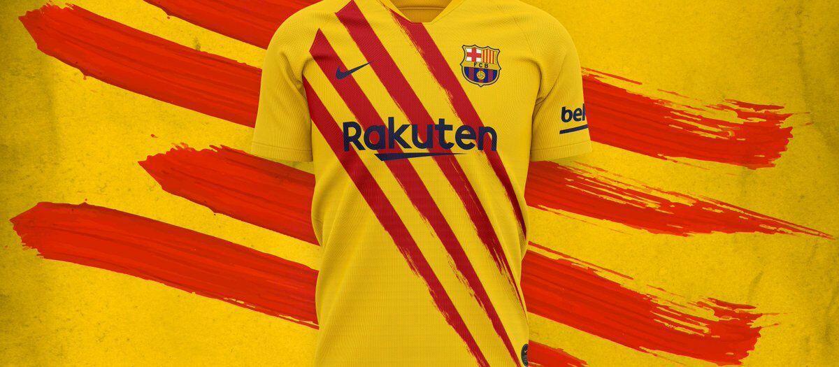 طرح جدید لباس تیم فوتبال بارسلونا رونمایی شد